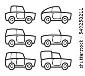 vector fun car body icon set | Shutterstock .eps vector #549258211
