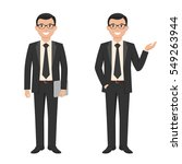 vector illustration of a young... | Shutterstock .eps vector #549263944