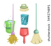 cartoon trendy cleaning service ... | Shutterstock .eps vector #549274891