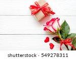 valentine day wood background... | Shutterstock . vector #549278311