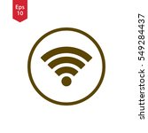 wifi symbol in circle. simple...