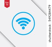 wifi symbol in circle. simple...