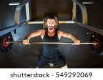 young attractive fit man with... | Shutterstock . vector #549292069