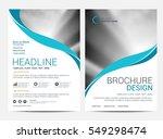 brochure template flyer... | Shutterstock .eps vector #549298474