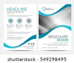 brochure template flyer... | Shutterstock .eps vector #549298495