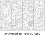 set of four bookmarks ... | Shutterstock .eps vector #549307369