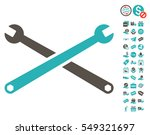 wrenches pictograph with free... | Shutterstock .eps vector #549321697
