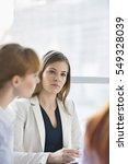 beautiful businesswoman in... | Shutterstock . vector #549328039