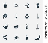 set of 16a plant icons....