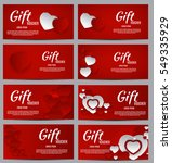 gift voucher template for your... | Shutterstock .eps vector #549335929