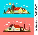 flat design city set. abstract... | Shutterstock .eps vector #549338485