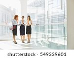 full length of businesswomen... | Shutterstock . vector #549339601