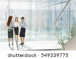 full length of businesswomen... | Shutterstock . vector #549339775