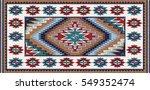 colorful mosaic oriental kilim...   Shutterstock .eps vector #549352474