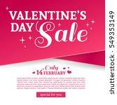 template design valentine... | Shutterstock .eps vector #549353149