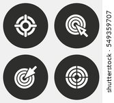 target vector icons set. white... | Shutterstock .eps vector #549359707