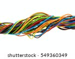 color wires on white background | Shutterstock . vector #549360349