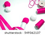 accessories for sewing lie on a ... | Shutterstock . vector #549362137