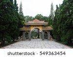 gate pagoda in truc lam temple. ... | Shutterstock . vector #549363454