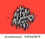 handdrawn graffiti alphabet.... | Shutterstock .eps vector #549364879