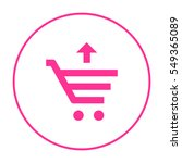 shopping cart isolated minimal... | Shutterstock .eps vector #549365089