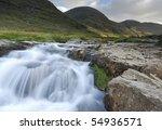 Mountain Waterfall In The...