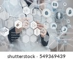 medicine doctor and virtual...   Shutterstock . vector #549369439