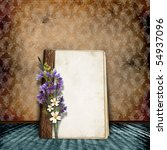 vintage background with old... | Shutterstock . vector #54937096