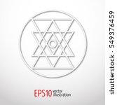 sacred geometry simbol made of... | Shutterstock .eps vector #549376459