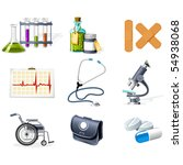 medicine and healthcare icons | Shutterstock .eps vector #54938068