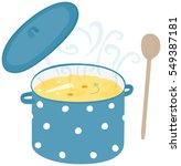 illustration of a hot soup in... | Shutterstock .eps vector #549387181
