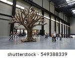 Small photo of LONDON, UK - JULY 8, 2016: People visit Tate Modern Gallery in London, UK. The gallery is located in the Bankside area of the London Borough of Southwark.