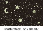 vintage space background with... | Shutterstock .eps vector #549401587