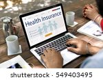insurance coverage mix... | Shutterstock . vector #549403495
