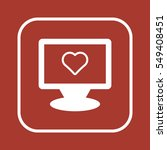 heart  icon  isolated. flat ... | Shutterstock .eps vector #549408451