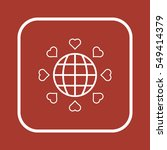 heart  icon  isolated. flat ... | Shutterstock .eps vector #549414379