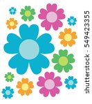 colorful vector flowers | Shutterstock .eps vector #549423355