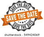 save the date. stamp. sticker.... | Shutterstock .eps vector #549424069