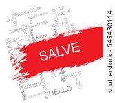 salve word cloud in different... | Shutterstock .eps vector #549430114