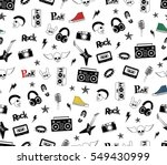 punk rock seamless pattern... | Shutterstock .eps vector #549430999