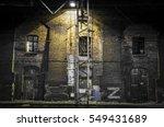Old Brick Wall In Lantern Light