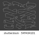 set of vintage hand drawn... | Shutterstock .eps vector #549434101