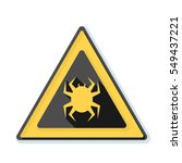 virus hazard sign | Shutterstock .eps vector #549437221