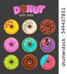 donut yummy maker set of... | Shutterstock .eps vector #549437851