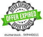 offer expired. stamp. sticker....   Shutterstock .eps vector #549440011