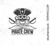jolly roger tattoo   pirate... | Shutterstock .eps vector #549441139