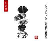 pebble zen stones balance on...   Shutterstock .eps vector #549442954