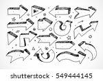 black doodle sketch arrows... | Shutterstock .eps vector #549444145