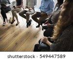 people meeting seminar office... | Shutterstock . vector #549447589
