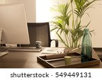 office work places   Shutterstock . vector #549449131
